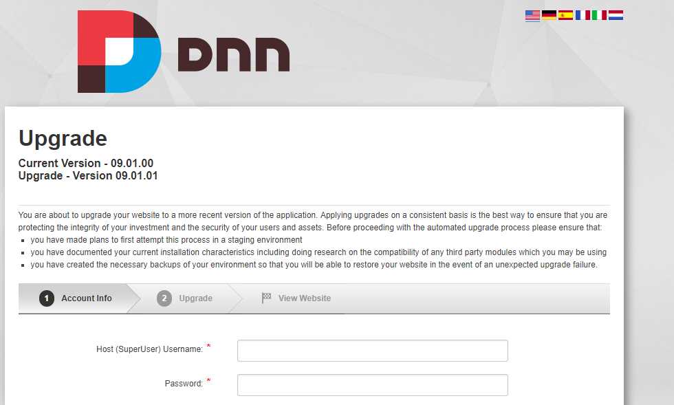 How to upgrade your DNN and Evoq site without your HOST account