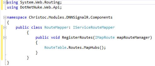 Using SignalR with DotNetNuke Modules > DNN Software